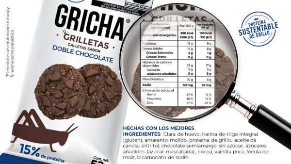 Ingredientes y tabla nutrimental – Doble Chocolate